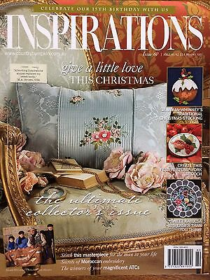 Inspirations Magazine ~ The World's Most Beautiful Embroidery  ~  Issue  60  NEW