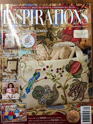 Inspirations Magazine ~ The World's Most Beautiful Embroidery  ~  Issue  62