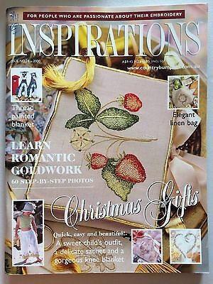 Inspirations Magazine ~ The World's Most Beautiful Embroidery  ~  Issue  28  NEW