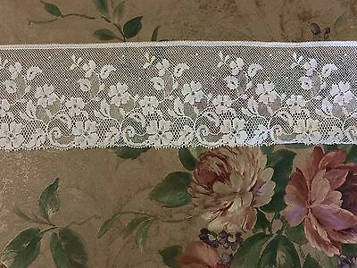 Vintage French Edging Lace White 78 mm wide x  1 metre 100% Cotton ~ Stunning