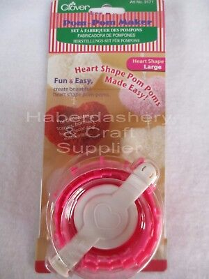 Clover Pom Pom Maker Diy Large Heart Shape Loom 8452
