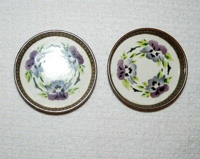 Silver and Porceline Coasters -  2