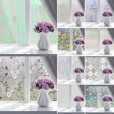 CO_ Bathroom Butterfly Bubble Flower Frosted Window Film Decorative Privacy Stic