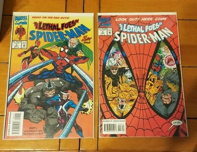Lethal Foes of Spider-Man #1, 2, 3, 4 set VG bagged & board