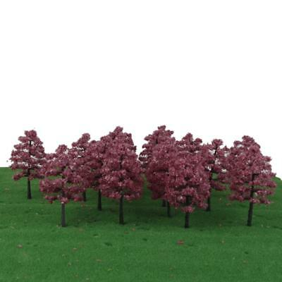 20 HO OO Model Trees Forest Layout Train Railway Landscape Scenery Fuchsia