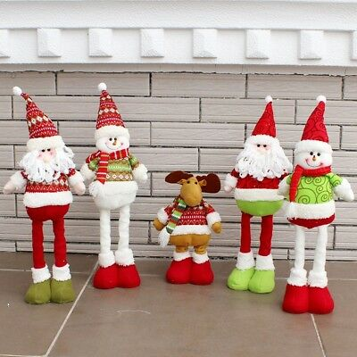 Christmas Festival Santa Claus Snowman Ornament Xmas Tree Table Decor Party Gift