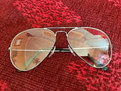 Vintage Ray-Ban Original Italian Large Aviators with Clear or Gradient Blue Lens