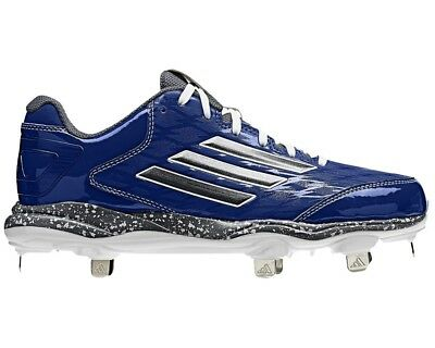 *rare* Adidas Poweralley 2.0 Low Metal Baseball Cleats Men's 8 Royal Blue D74067