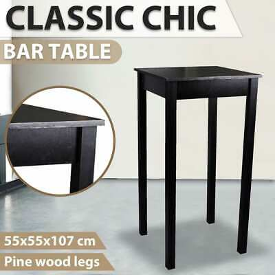New High Bar Side Table Dining Coffee Kitchen MDF Bedside Outdoor 55x55x107cm