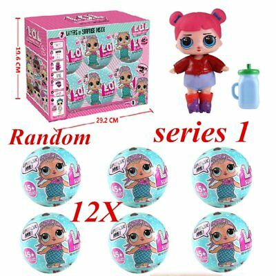 12pcs LOL SURPRISE DOLL 1 Lil Sisters Ball 7 Layers Series Surprise Kid Xmas Toy
