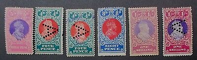 Nsw Stamp Duty Kgv 1909-14 Used Hinged A Perforations