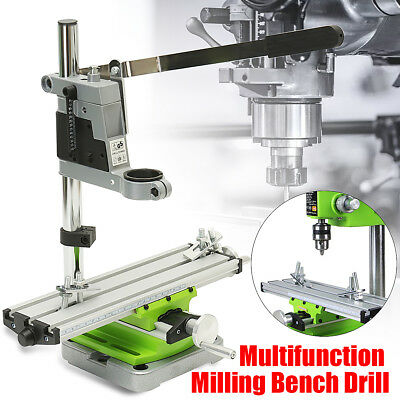 AU Mini Multifunction Milling Machine Bench Drill Fixture Adjustment Work Table