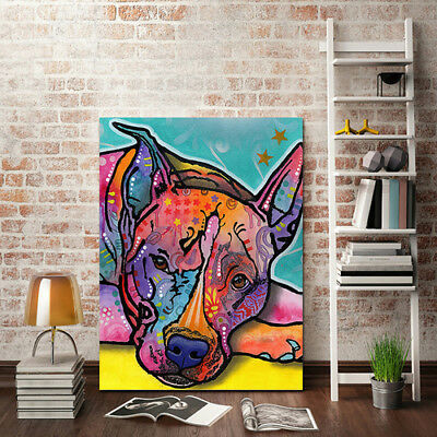 Unframed Modern Abstract Oil Painting On Canvas Colorful Dog Huge Wall Decor