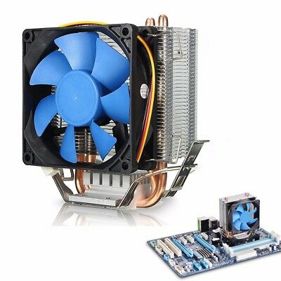 80mm 8CM Quiet Dual Fan CPU Cooler Heatsink For Intel LGA1150/1156 AMD FM2/AM3+