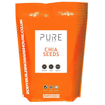 Pure Chia Seeds 1kg Natural Weight Loss & Detox With Raw Whole Chia Free P&P