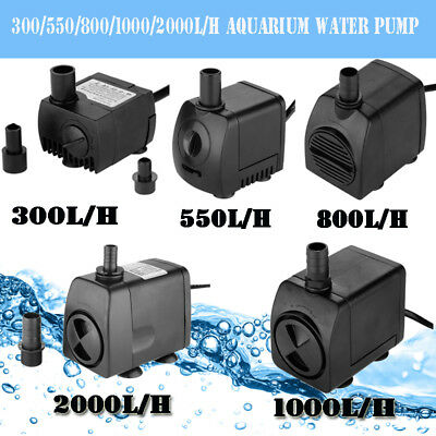 300-2000LPH Submersible Water Pump Aqua Aquarium Fountain Pond Fish Tank Pump AU