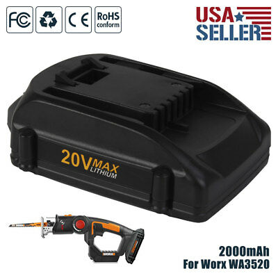 20V Max WA3520 2.0Ah Lithium Battery For WORX WA3525 W155 WG151s WG255s WG545
