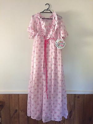 Night Magic Long  Slip & Matching Robe  sz 12  Polyester
