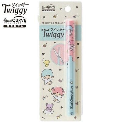 Sanrio Little Twin Stars Twiggy Fitcut CURVE Pen-Style Portable Scissors RegShip
