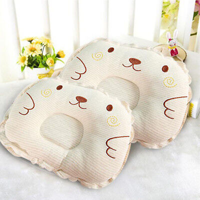Hot Newborn Baby Anti Roll Pillow Sleep Positioner Prevent Flat Head Cushion New