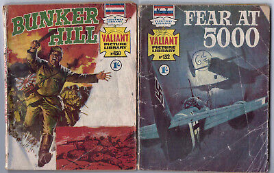 1968. TWO x VALIANT Picture Library War comics #'s 130 and 132.
