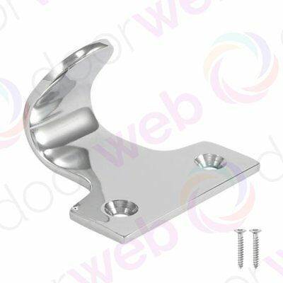 SASH WINDOW LIFT Hook Slide Catch Finger Pull Handle Sliding Frame CHROME