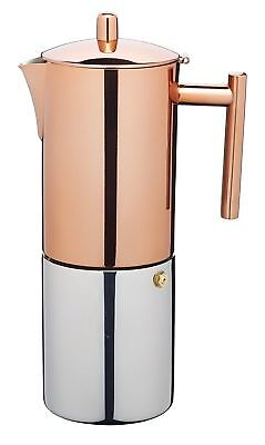 Le'Xpress by Kitchen Craft 600ml Stainless Steel / Copper Espresso Coffee Maker