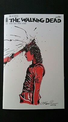 The Walking Dead comic issue #150 with sketched  cover Art .(NM) copy