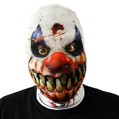 Monster Smile Killer Clown Halloween Face Mask Adult Fancy Dress Scary Horror
