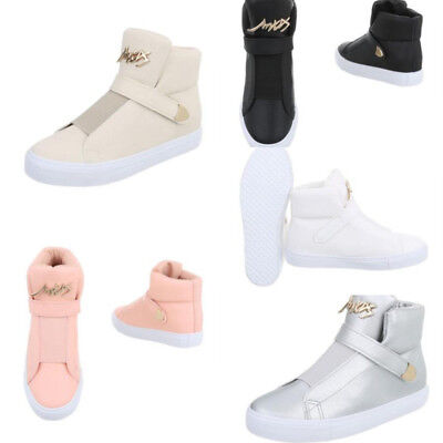 innovative design 08c2b 457f2 SCARPE SNEAKERS DONNA Hip Hop Fashion Basse Stivaletto con Strappo Eco  Pelle Sca