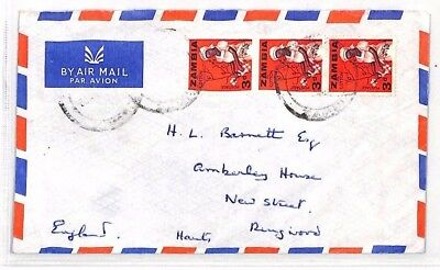 XX83 1980s ZAMBIA GB Devon Airmail Cover