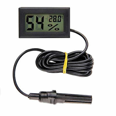 Mini Digital LCD Indoor Temperature Humidity Meter Thermometer Hygrometer& Cable