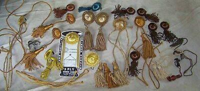 lot of picture mirror hanging tassles/cords rail