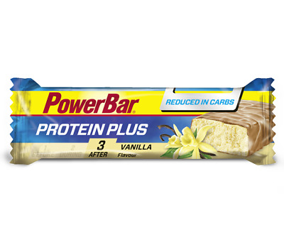 PowerBar Protein Plus Reduced in Carbs - 30 x 35g Bars - Vanilla - SAVE 50%