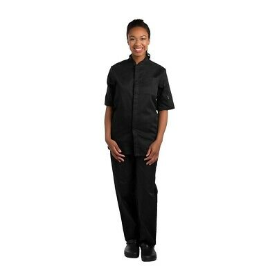 Le Chef Contemporary Unisex Prep Shirt Black XXL BARGAIN