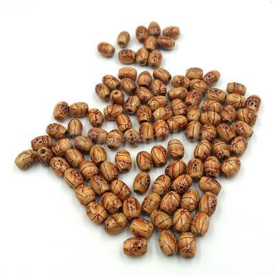 100x Wooden Boho Large Hole European Beads for Jewelry Making Craft DIY 10mm
