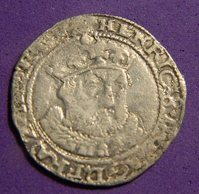 Edward Vi Hammered Silver Groat,struck In The Name Of Henry 8Th .1547-1551
