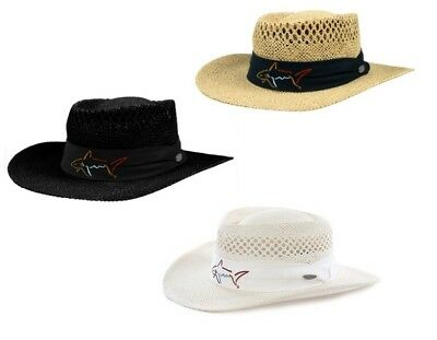 Greg Norman Collection Branded Straw Hat Vented One Size - Choose Color!!!