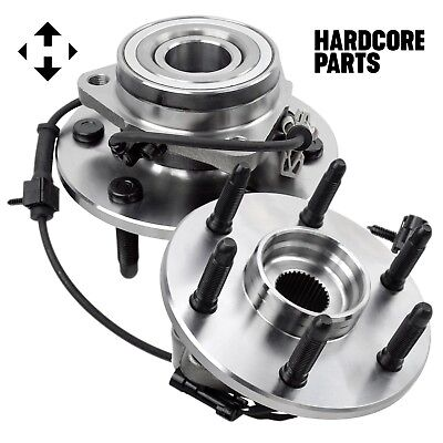 Wheel Hub Bearing Assembly (2) Chevy GMC Truck 4x4 4WD AWD, Front w/ ABS 6 Lug 5
