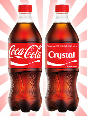 Coca-Cola Share a Coke with Crystal Collectible Rare Unopened Red Bottle 20 OZ
