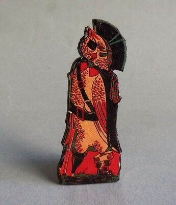 Dollhouse Miniature ~ Halloween ~ Vintage Standing Pirate Owl Board