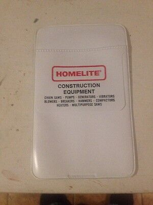 Homelite Vinyl Pocket Protector, Excellent Shape Free Shipping