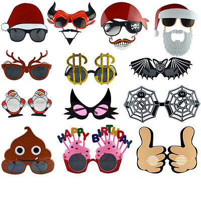 New Halloween Christmas Funny Party Glasses 19 Styles Birthday Cosplay
