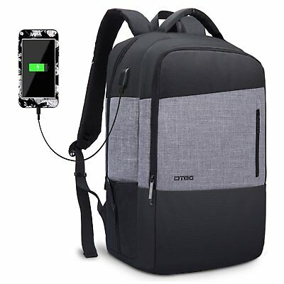 """Laptop Notebook Backpack+USB Charge Computer Bag for Dell HP Lenovo 17"""" 17.3"""""""