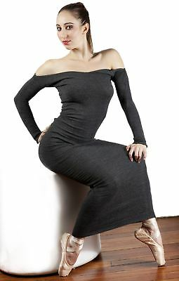 Ankle Length Maxi Sweater Dress / BodyCon / Off Shoulder / Made In USA / KDny