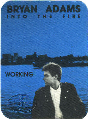 Bryan Adams 1987 Into The Fire Backstage Pass