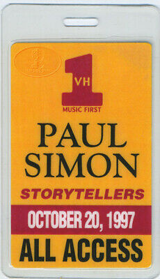 PAUL SIMON VH-1 Storytellers 1997 Laminated Backstage Pass