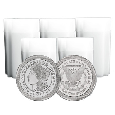 Lot of 100 - 1 Troy oz Morgan Design .999 Fine Silver Round