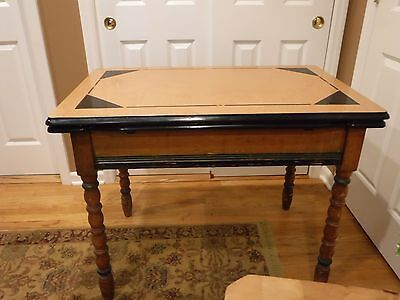 Antique Porcelain Top Extendable Table