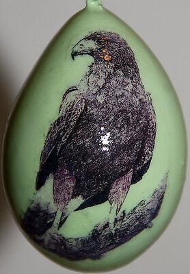 gourd Easter egg, garden or Christmas ornament with hawk